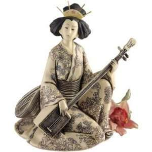 Japanese Collectible Geisha Sculpture Statue Figurine