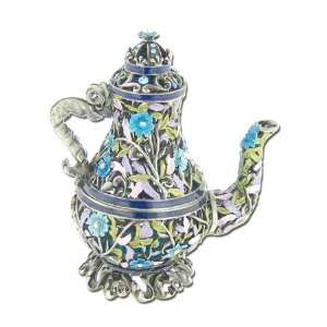 Swarovski Crystal Pave Antique Blue Jeweled Tea Pot GAD690
