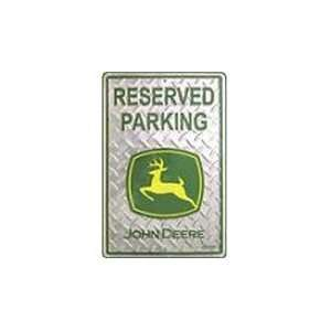John Deere Reserved Parking Sign 12 x 18 JD 01M 6131: Patio, Lawn