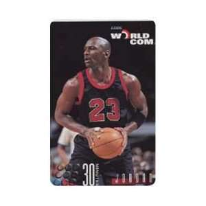 Collectible Phone Card 30m Michael Jordan With Black & Red Uniform