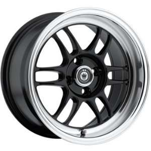 Konig Wideopen 15x8 Black Wheel / Rim 4x100 with a 20mm Offset and a