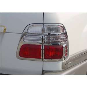 Chrome Tail Lamp Covers, for the 2002 Toyota Land Cruiser Automotive
