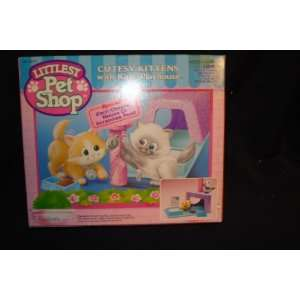 Littlest Pet Shop Cutesy Kittens with Kitty Playhouse