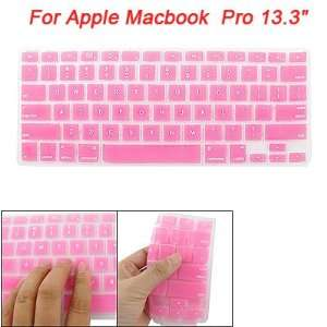 Silicone Skin Keyboard Cover Pink for Macbook Pro 13.3 Electronics