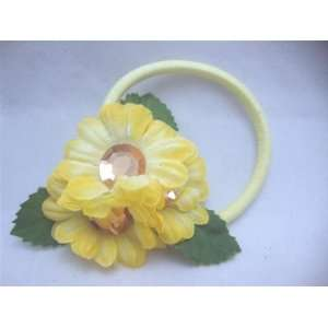 NEW Cute Yellow Flower Pony Tail Holder, Limited. Beauty