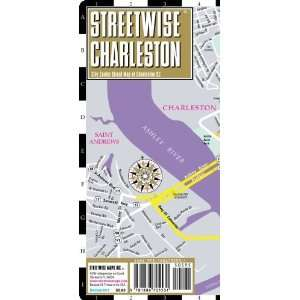 Streetwise Charleston Map   Laminated City Center Street Map