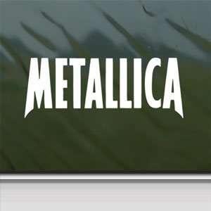 Metallica White Sticker Metal Rock Band Laptop Vinyl