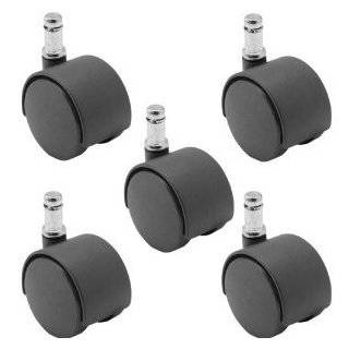 Black Twin Wheel Fixed Type Replacement Caster Roller Office Products