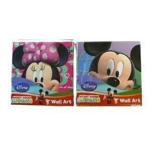 Disney Mickey Mouse Wall Art set   2 pcs Mickey & Minnie