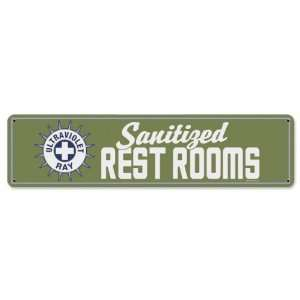 Restrooms Miscellaneous Metal Sign   Victory Vintage Signs