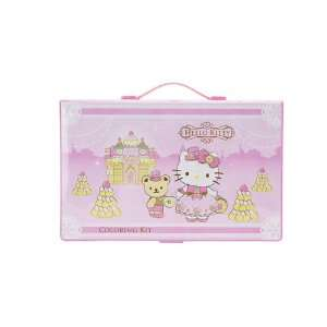 Hello Kitty Coloring Kit Deluxe Castle Toys & Games