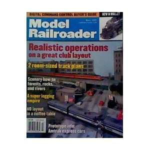 Model Railroader   March 2003 (Realistic Operations): Editors of Model
