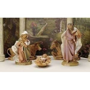 6 Piece Set Fontanini 7.5 Holy Family Nativity Garden