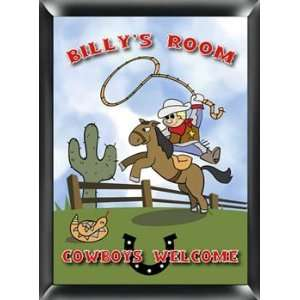 Personalized Name Kids Room Sign Cowboy Sign Wall Decor Baby