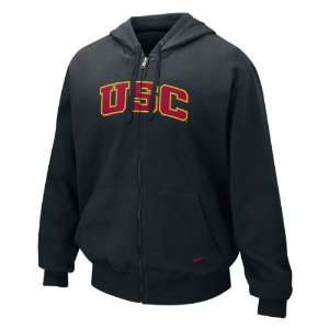 Trojans Nike Black Classic Full Zip Fleece Hoodie Sports & Outdoors
