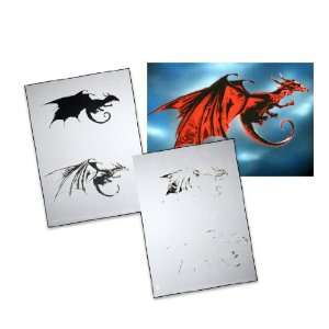 Step by Step Airbrush Stencil Template AS 003 M ca. 5,11