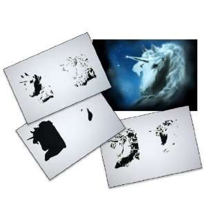 Step by Step Airbrush Stencil Template AS 061 L ca. 9,05