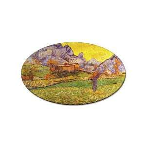 Le Mas de Saint Paul By Vincent Van Gogh Oval Magnet Office Products