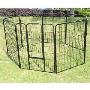 24 8 Panel Heavy Duty Pet Dog Portable Exercise Playpen
