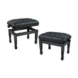Gear Leather Concert Piano Bench Black (Black) Musical Instruments