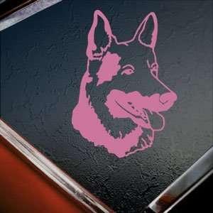 Dog Head Us Pink Decal Window Pink Sticker Arts, Crafts & Sewing