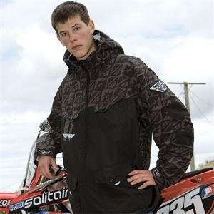 Fly Racing Pit Jacket   2010   X Small/Black/Grey