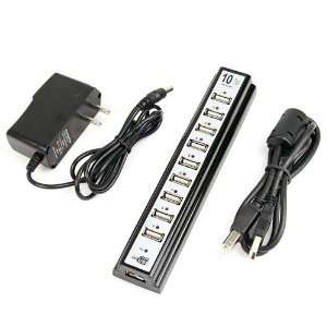 New 10 PORTS USB HUB 2.0 High Speed with Power Adapter Electronics