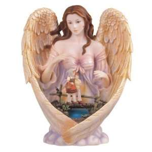 Angel With LED Light Holy Religious Figurine Decor: Home & Kitchen