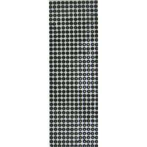 Rhinestone Strips 50205 Sticker Sheet Embellishment, Black