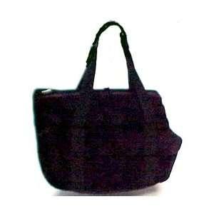 Dog Cat Pet Anima Shoulder Bag 19x12 Black/plush Handle