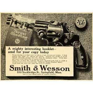 1913 Ad Smith Wesson Antique Revolver Target Shooting Book