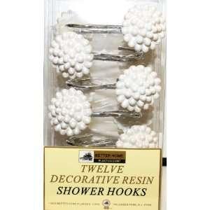 Pearls Set of 12 Shower Hooks: Home & Kitchen