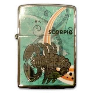 Zippo Lighter Zodiac Scorpio, High Polish Chrome