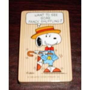 Hallmark Peanuts Deck Playing Cards   Fancy Shuffling Snoopy