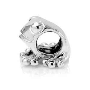 Sterling Silver Cute Frog Bead Charm Fits Pandora Bracelet Jewelry