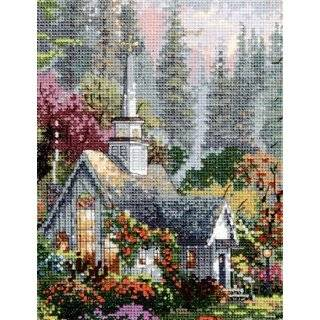 Thomas Kinkade The Forest Chapel Cross Stitch Kit