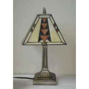 Mission Tiffany Style Stained Glass Small Lamp T08510S