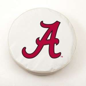 Alabama Crimson Tide White Tire Cover, Large