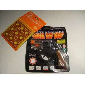 Super Cap Gun Pistol with 72 Star Caps: Toys & Games