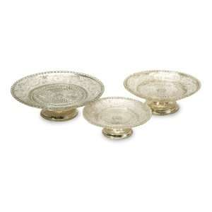 Royal British Gold Glass Pedestal Cake Stands 12