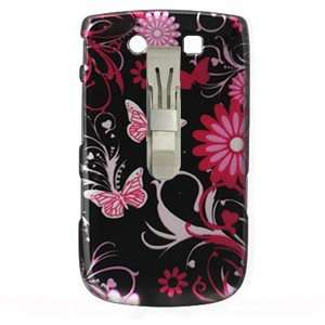 Plastic Protector Case (Pink Butterfly Design) w/ Optional