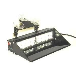 A.P. Dash Mount LED EMERGENCY Light Bar CLEAR 15 Modes