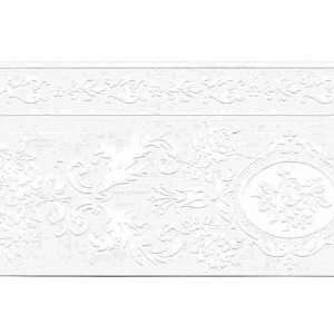 White Paintable Wallpaper Border: Home & Kitchen