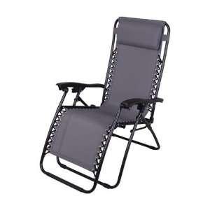 Gray Zero Gravity Chair Folding Recliner Patio Pool Lounge Chairs