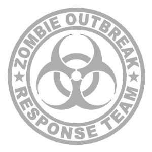 Zombie Outbreak Response Team SILVER 5 Die Cut Vinyl