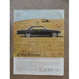 1961 Buick, Vintage 60s full page print ad. (black car