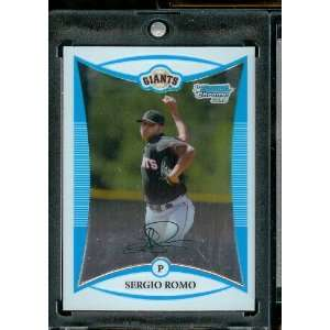 2008 Bowman Chrome Prospects # BP4 Sergio Romo   San Francisco Giants