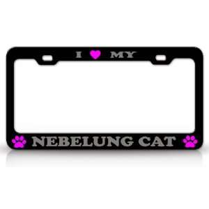 I LOVE MY NEBELUNG Cat Pet Animal High Quality STEEL