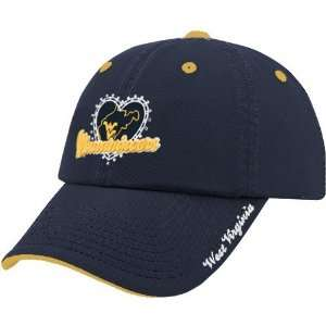 West Virginia Mountaineers Navy Blue Ladies True Love Adjustable Hat