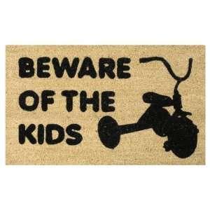 Beware of the Kids Coir Welcome Doormat Funny Mat Patio